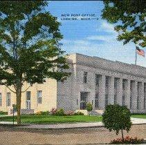 Image of Post Office, Lansing, Michigan - 2015-01-001.V10.075a