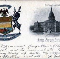 Image of Capitol at Lansing, Michigan - 2015-01-001.V11.071