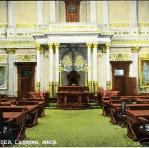 Image of State Senate, State Capitol Building, Lansing, Michigan - 2015-01-001.V12.043