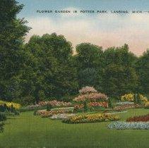 Image of Flower Garden in Potter Park, Lansing, Michigan - 2015-01-001.V13.036
