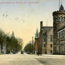 Image of Capitol Ave., looking North from Michigan Ave., Lansing, Michigan - 2015-01-001.V17.002