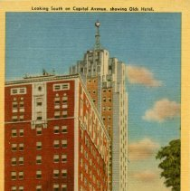 Image of Looking South on Capitol Avenue, Showing Olds Hotel, Olds Tower, and Masonic Temple, Lansing, Michigan - 2015-01-001.V17.008
