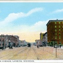 Image of Washington Ave., Lansing, Michigan - 2015-01-001.V17.079