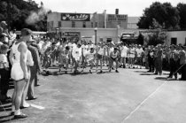 Image of The start of the Dipsea Race in Lytton Square, 1940s