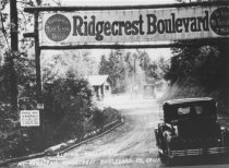 Image of Ridgecrest toll house and gate, Mt. Tamalpais, 1920s - Print, Photographic
