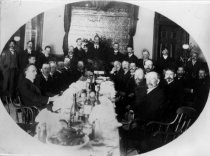Image of Banquet of the Cross Country Boys Club in 1903 - Print, Photographic