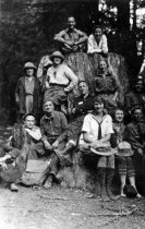 Image of California Alpine Hiking Club Hikers at 730 Panoramic Highway in 1923  - Print, Photographic