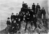 Image of Men and women atop Mt. Tamalpais - Print, Photographic