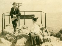 Image of Man and Woman at Mt. Tamalpais Locator, circa 1900