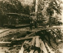 Image of Train on the Way to Muir Woods, circa 1911 - Print, Photographic