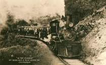 Image of In the clouds: excursion train on the way to Mt Tamalpais Summit, circa 1910 - Print, Photographic