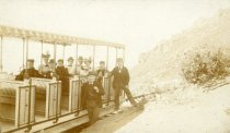 Image of First regular trip of the Mill Valley & Mt. Tamalpais Scenic Railway, 1896 - Print, Photographic