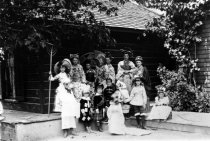Image of Guests in Costume at the Blithedale Hotel, circa 1900 - Print, Photographic