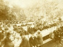 Image of Large Gathering at the Site of the Kenilworth Hotel, circa 1880