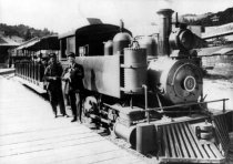 Image of Lee Street Local Engine Number 6 at the Mill Valley Depot, 1906 - Print, Photographic