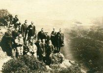 Image of Visitors photographed on Mt. Tamalpais, 1920s.  - Print, Photographic