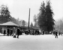 Image of Mill Valley's bustling 3rd Station, circa 1920 - Print, Photographic