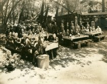Image of Mill Valley Rotary Club meeting at Muir Woods National Monument, 1938 - Print, Photographic