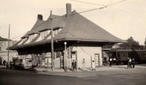 Image of Northwestern Pacific Railroad Station in Mill Valley, circa 1925 - Print, Photographic