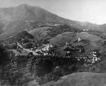Image of View of Mill Valley showing Summit School, churches, and Coffin Home, 1900 -