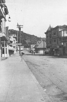 Image of Looking down Throckmorton Avenue toward Miller Avenue, 1918.  - Print, Photographic