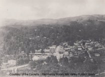 Image of View of Throckmorton Avenue and Downtown Mill Valley, circa 1915 - Print, Photographic