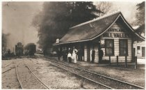 Image of Eastland-Mill Valley Station, circa 1899 - Negative