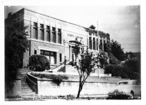 Image of Carnegie Library with car, circa 1940s                                                                                                                                                                                                         - Print, Photographic