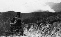 Image of Train on Mt. Tamalpais during fire, 1929                                                                                                                                                                                                                   - Print, Photographic