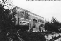 Image of Carnegie Library at 52 Lovell Ave, date unknown.                                                                                                                                                                                                           - Print, Photographic