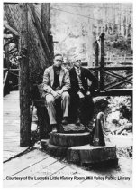 Image of Waiting for the train at Muir Woods Inn, circa 1915                                                                                                                                                                                                        - Print, Photographic