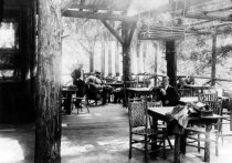 Image of Muir Woods Inn porch, 1915 - Print, Photographic
