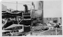 Image of Tavern of Tamalpais destroyed by fire, 1923                                                                                                                                                                                                      - Print, Photographic