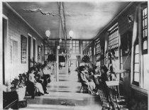 Image of Guests on veranda of the Tavern of Tamalpais, circa 1913                                                                                                                                                                                                   - Print, Photographic
