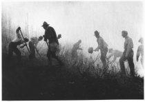 Image of Volunteer firemen at Mt. Tamalpais Fire, 1929                                                                                                                                                                                                              - Print, Photographic