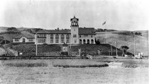 Image of A front view of Tamalpais High School, circa 1914