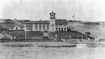 Image of A front view of Tamalpais High School, circa 1914                                                                                                                                                                                                              - Print, Photographic