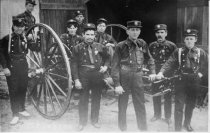Image of Mill Valley Firemen Champion Hose Cart Team, 1908                                                                                                                                                                                                              - Print, Photographic