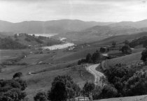 Image of View of Mill Valley showing Camino Alto, Richardson Bay and Tam High,1916                                                                                                                                                                              - Print, Photographic