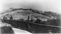 Image of Mill Valley with Catholic Church and Summit School, circa 1895