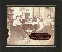 Image of Proprietor and Guests at the Hotel De Miller, circa  1880-1900                                                                                                                                                                                                 - Print, Photographic