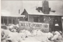Image of West Point Inn with snow, 1922                                                                                                                                                                                                                   - Print, Photographic