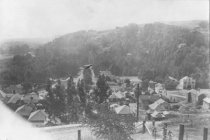 Image of View of downtown Mill Valley, early 1900s  - Print, Photographic
