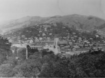 Image of View of Mill Valley from Ethel Avenue or Molino Avenue, circa 1915 - Print, Photographic