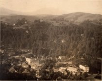 Image of View of Throckmorton and Sunnyside at East Blithedale from Oakdale Avenue, circa 1920                                                                                                                                                                      - Print, Photographic