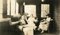 Image of Karin Lundquist and Janet Bostwick, date unknown                                                                                                                                                                                                               - Print, Photographic