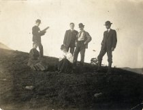 Image of Lundquists, Sackses, Mr. Piater and  Mr. Kasteagrew (?), 1908                                                                                                                                                                                                  - Print, Photographic