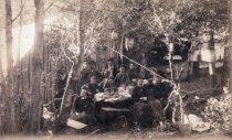 Image of After dinner in Lundquist and Croelius camp, circa 1890                                                                                                                                                                                                        - Print, Photographic
