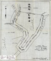 Image of Map of Southerly Portion of Lot No. 359 of Tamalpais Land and Water Company