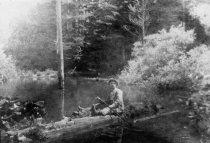 Image of Bernard Fischer at Lily Lake, Mt. Tamalpais, 1912                                                                                                                                                                                                              - Print, Photographic